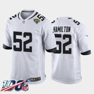 Jacksonville Jaguars DaVon Hamilton White Jersey